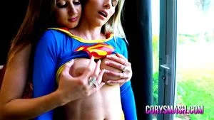 Powerless Super Cory Gets Comforted By Her Lesbian Sister