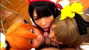 Japanese Cosplay Cuties Have Sex At School