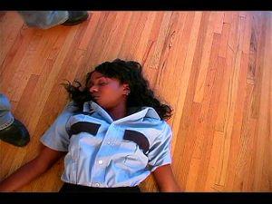 Villain Chloroforms And Strips Ebony Officer